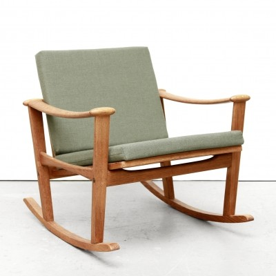 Oak Rocking Chair by M. Nissen, 1960s