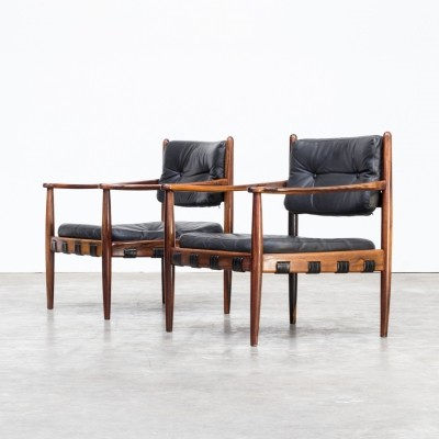 Pair of Arne Norell lounge chairs for Arne Norell AB, 1950s