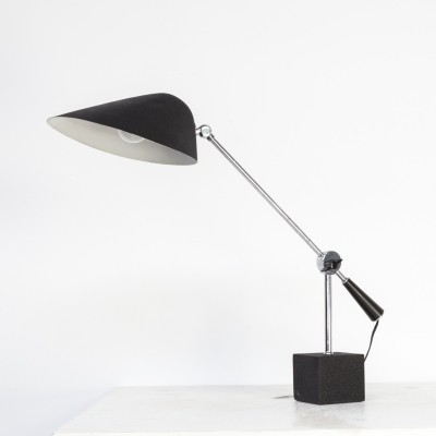 70s metal & stone table lamp for SEM