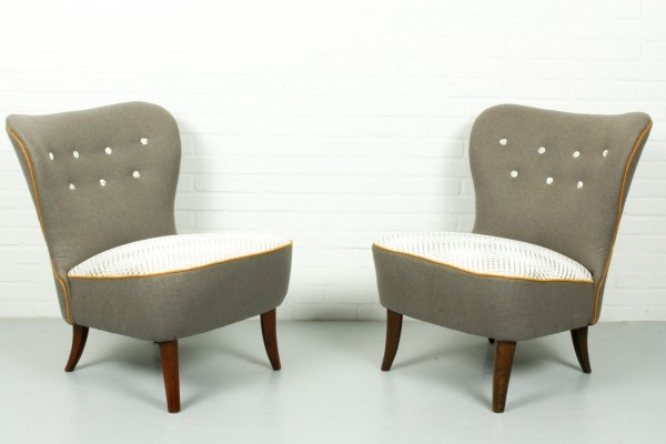 Set of Two Artifort Cocktail Chairs by Theo Ruth, 1960s