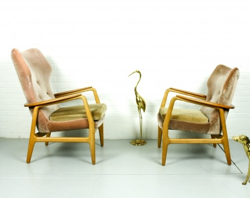 Dutch Wingback Armchair Set by Aksel Bender Madsen for Bovenkamp, 1950s
