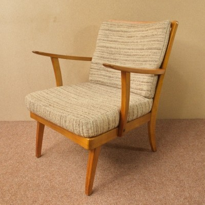 Cherrywood Easychair by Knoll Antimott, 50s