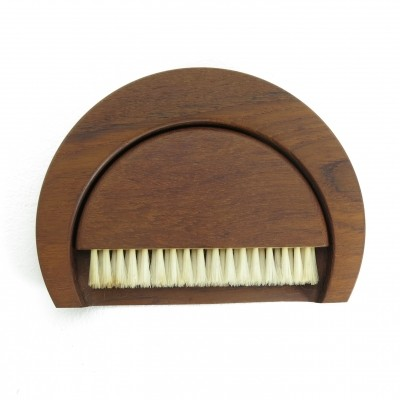 Teak crumb brush & tray by Kay Bojesen, 1950s