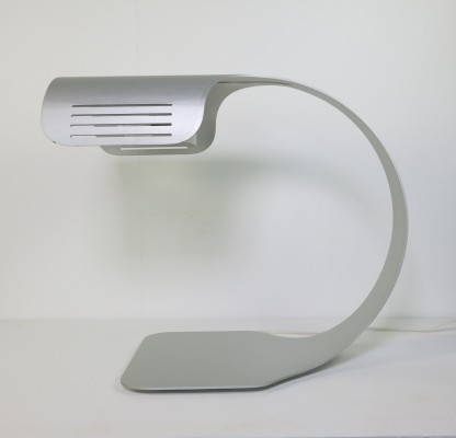 Brushed aluminum desk lamp by Walter et Moretti, Italy