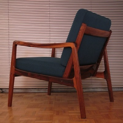 Rare Rosewood Model 119 Ole Wanscher Chair With BNOS Original Cushions