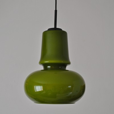 Green opaline glass pendant