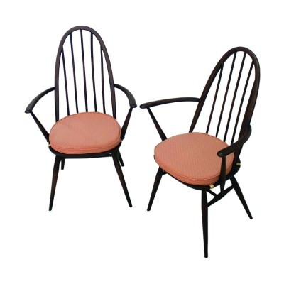 Pair of Quaker 365 dining armchairs by Lucian Ercolani for Ercol, 1960s