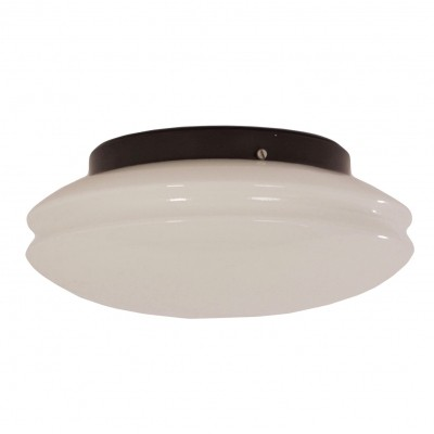 Round White Ceiling Lamp, 1970s