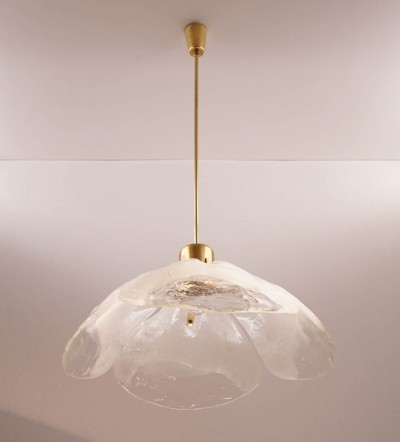 Very Large Murano Glass Ceiling Lamp by Kalmar