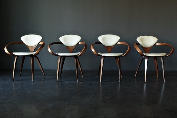 Set of 4 arm chairs by Norman Cherner for Plycraft, 1960s