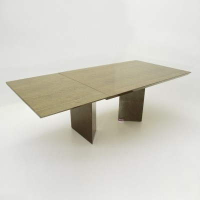 Inlay Extendable Table by Giovanni Offredi for Saporiti, 1980s
