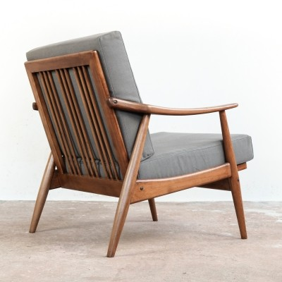Danish easy chair in stained beech, 1960s