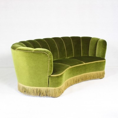 Mid-Century Danish Banana Shaped Sofa, 1940s