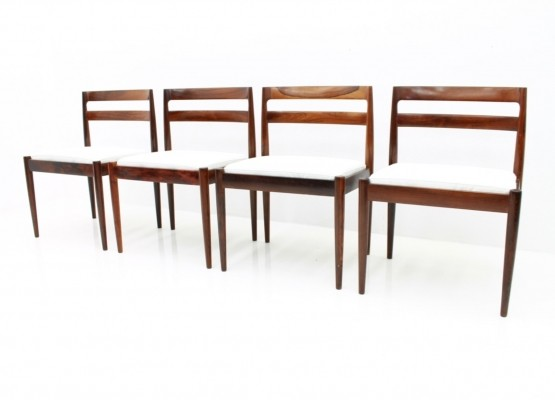 Set of four 'Universe 301' dining chairs by Kai Kristiansen for Magnus Olesen, 1960s