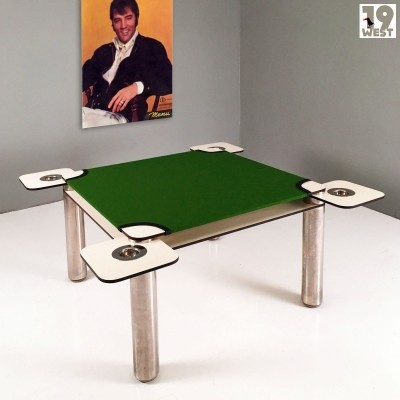Poker gambling table by Joe Colombo for Zanotta