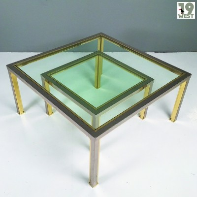 Regency brass & chrome coffee tables from the 1970's