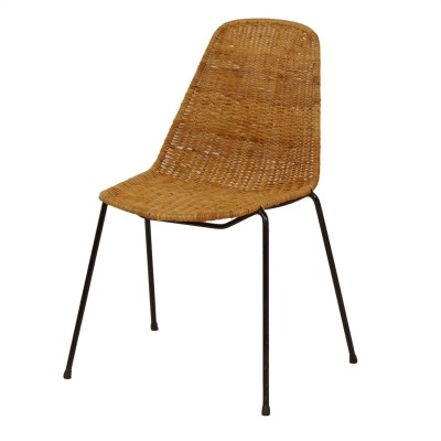 Basket Chair by Gian Franco Legler, 1950s