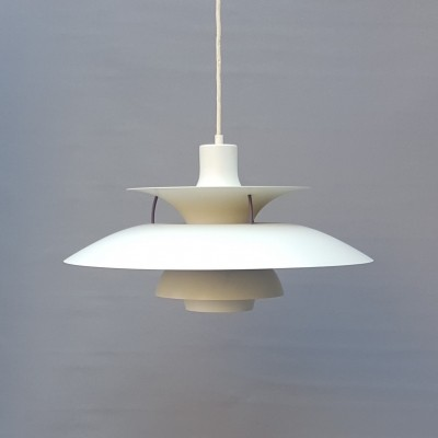 White PH5 by Poul Henningsen for Louis Poulsen