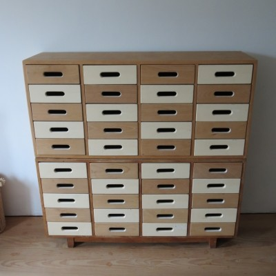 Pair of 1950s chests by James Leonard for Esavian
