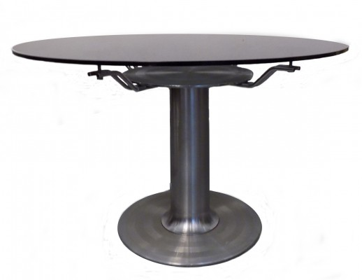 Mid-Century Italian Steel & Glass Coffee Table, 1970s