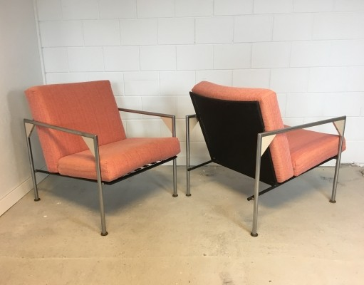 Pair of vintage lounge chairs, 1980s
