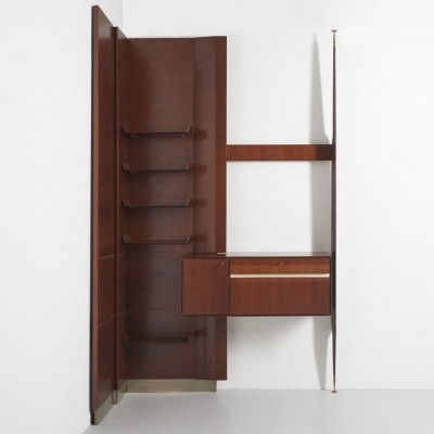 Italian wall unit in rosewood, 1950's