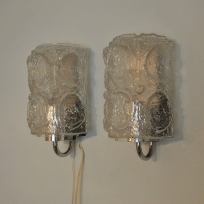 2 x wall lamp by Helena Tynell & Heinrich Gantenbrink for Glashütte Limburg, 1950s