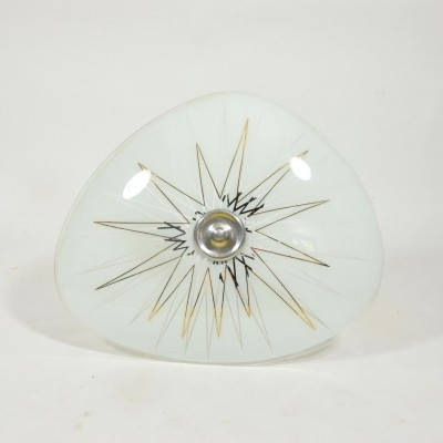 Vintage Ceiling light with prints, 1960s