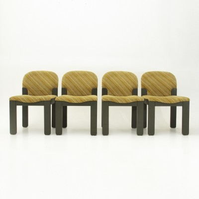 Set of 4 Easy dining chairs by Ernesto Radaelli for Saporiti, 1980s
