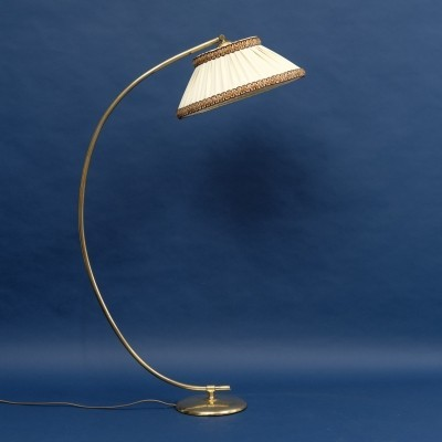 1950s arc lamp with brass arm