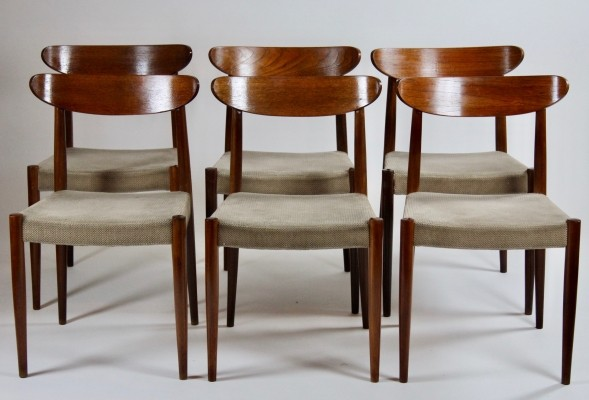 Set of 6 Paola dinner chairs by Oswald Vermaercke for V Form, 1950s