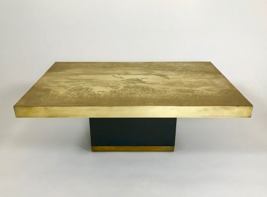 Belgian brass coffee table