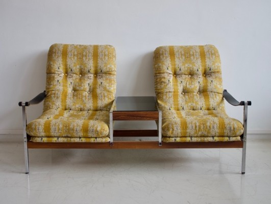 Armchairs with a Side Table by Dahlens Dalum, circa 1970s