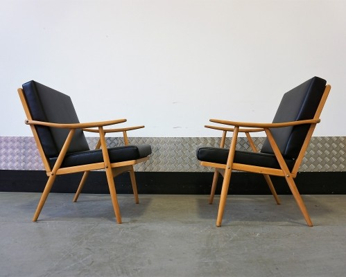 Vintage Czech Armchairs by Thonet 1960's