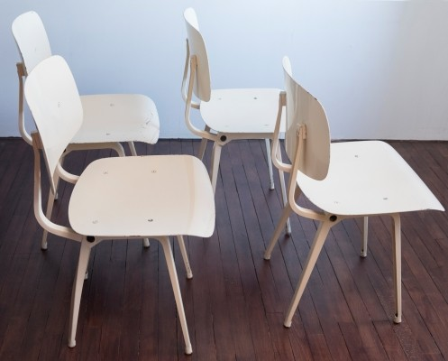 Set of 4 Revolt dinner chairs by Friso Kramer for Ahrend de Cirkel, 1950s