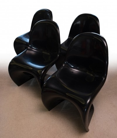 Set of 4 dinner chairs by Verner Panton for Fehlbaum, 1970s