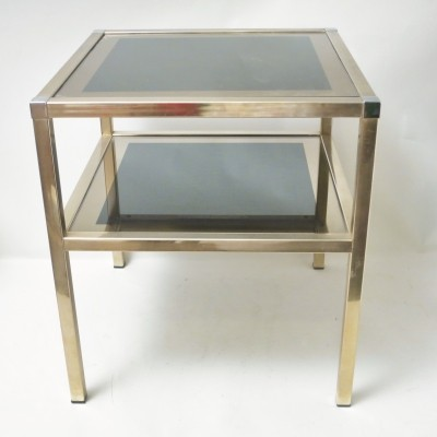Brass & Chrome table by Maison Charly Frères