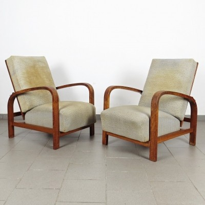 Pair of vintage arm chairs, 1930s