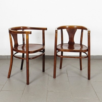 2 x Thonet arm chair, 1920s