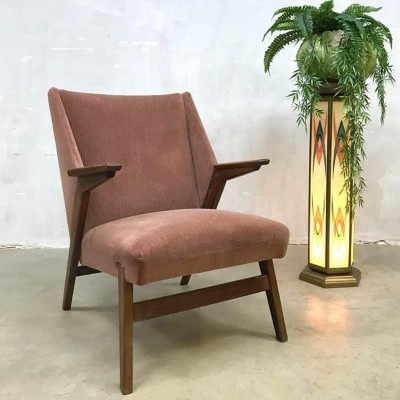 Midcentury modern 'dusty pink' arm chair, 1950s