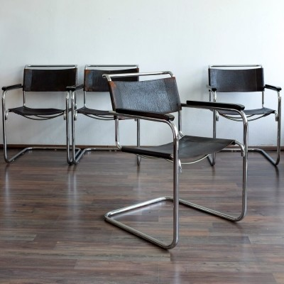 Set of 4 B34 dinner chairs by Marcel Breuer for Thonet, 1930s