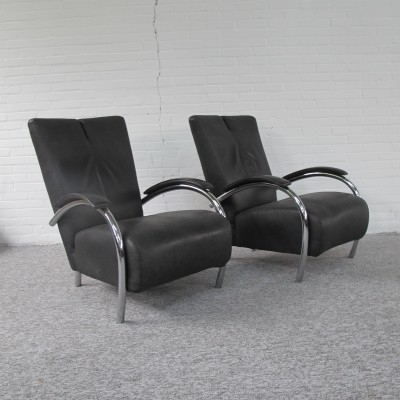 Pair of vintage Montis lounge chairs, 1980s