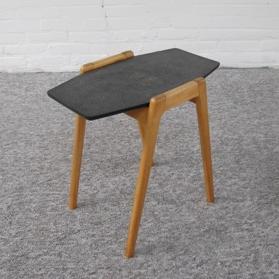 Vintage Birch wood side table, 1950s