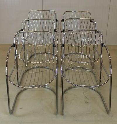 Set of 6 vintage dinner chairs, 1960s
