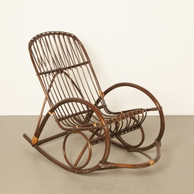 Rohé Noordwolde bent wicker / rattan rocking chair