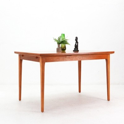Walnut Dining Table with Dutch Leaves by Lübke, 1960s