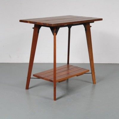 1960s Solid teak plant table