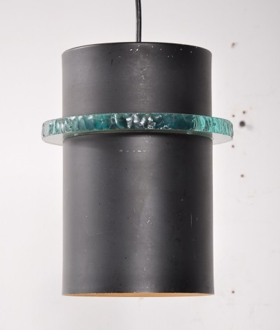 1960s Dutch metal hanging lamp by Hiemstra Evolux