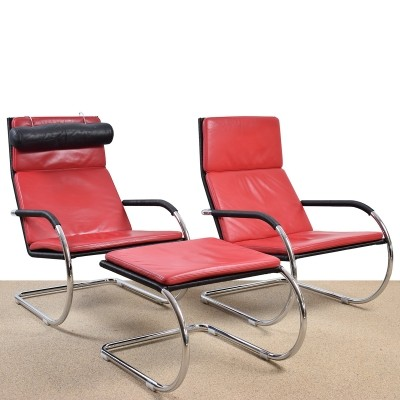 Pair of D35 lounge chairs by Tecta, 1970s