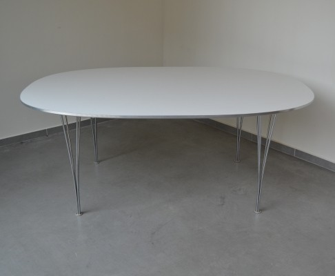 Super Ellipse dining table by Piet Hein & Bruno Mathsson for Fritz Hansen, 1980s